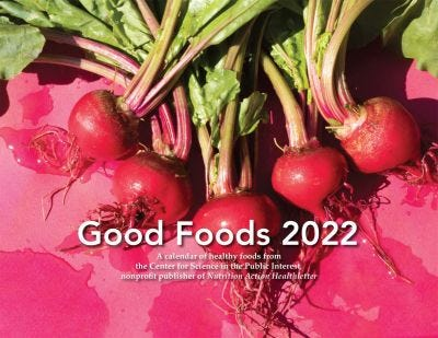 2022 Good Foods Calendar